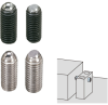 Fixturing Ball Clamping Screw, Steel & Stainless Steel Balls -- BSR, BSF