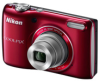 Nikon CoolPix L26 Red 16.1mp 5x (26-130mm) Optical Zoom Digital Camera - 3in LCD Monitor - ISO 1600 -- 26299