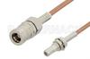 SMB Plug to SMB Jack Bulkhead Cable 60 Inch Length Using RG178 Coax -- PE33676-60 -Image