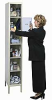 HALLOWELL Safety-View Plus 6-Tier Lockers -- 5799402