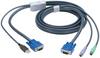 KVM FLASH CABLE VGA PS2 TO USB 6FT -- EHN428-0006 -- View Larger Image