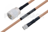 MIL-DTL-17 N Male to SMA Male Cable 48 Inch Length Using M17/128-RG400 Coax -- PE3M0070-48 -Image
