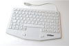 Medical Keyboard with Touchpad and Magnetic Back - Cool Gray -- KBWKRC87TM-CG07