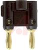 Double Banana Plug, gold plated, Black -- 70197206