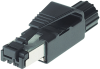 RJ45-Ethernet-connector male straight,4pol,shield IP20, field-wireable, D=6,5 ... 6,9mm -- 7000-99051-0000000