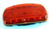 LED Amber Strobe Light - 18 LEDS - Battery Powered - Dual Magnetic Base -Continuous or Strobe Output -- SL-M-A