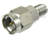 SMA Male (Plug) to SSMA Female (Jack) Adapter, Passivated Stainless Steel, High Temp, 1.45 VSWR -- SM4888 - Image