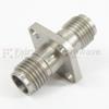1.85mm Female (Jack) to 1.85mm Female (Jack) 4 Hole Flange Adapter, 1.33 VSWR -- SM3928 - Image