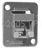 TecNec CAT-6 RJ45 Female-Female Feedthru D Series Panel Mount -- RJ45-RJ45CM-6