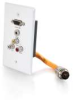 RapidRun® Single Gang Integrated HD15 + 3.5mm + RCA Audio/Video Wall Plate - White -- 2212-60030-001 - Image
