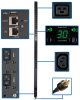 5/5.8kW Single-Phase Monitored PDU with LX Platform Interface, 208/240V Outlets (20 C13 & 4 C19), L6-30P, 0U, TAA -- PDUMNV30HVLX