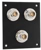 3 JACK PANEL INSERT BULKHEAD REAR MOUNT TRB 3 LUG ISOLATED -- REF00214 -Image