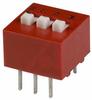 Switch, DIP; 0.380 in. L x 0.380 in. W x 0.245 in. H; 3; SPST; Thru-Hole -- 70216690 - Image