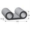 Double Bulb Lid EPDM Sponge Rubber Seal -- 1145 Series