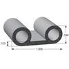 Double Bulb Lid EPDM Sponge Rubber Seal -- 1145 Series - Image