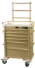 AL809M6-ANS Aluminum Tall 6 Drawer Anesthesia Cart with.. -- AL809M6-ANS