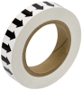 Brady B-946 Black on White Directional Flow Arrow Tape - 1 in Width - 30 yd Length - 91413 -- 754476-91413 - Image