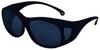 Jackson Safety V50 Polycarbonate Safety Glasses - Black Frame - Wrap Around Frame - 761445-02817 -- 761445-02817