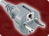 CEE 7/7 EURO SCHUKO GREY to IEC-60320-C13 GREY WITH SAFETY LOCK HOME • Power Cords • International Power Cords • Europe Power Cords