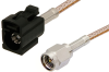 SMA Male to Black FAKRA Jack Cable 60 Inch Length Using RG316 Coax -- PE39348A-60 -Image