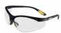 "DeWalt Reinforcerâ""¢ Safety Glasses, Black Frame, Clear lens -- EW-86497-26"