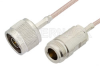 N Male to N Female Cable 36 Inch Length Using RG316-DS Coax -- PE34281-36 -Image