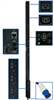 TAA Compliant 3-Phase Switched PDU, 8.6 KW, 24 208V Outlets (21-C13, 3-C19) 10-ft. Cord, IEC-309 Blue 30A Input, 0U Vertical Mount -- PDU3VSR10G3TAA