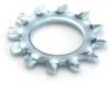 #10 External Tooth lock Washer, Zinc -- WSHEXT0100BZ - Image