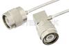 TNC Male to TNC Male Right Angle Semi-Flexible Precision Cable 12 Inch Length Using PE-SR405FL Coax, LF Solder, RoHS -- PE39473-12 -- View Larger Image