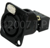 Female Chassis Mount XLR To Snap Terminal -- NC3FD-SNAP