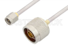 SMA Male to N Male Cable 18 Inch Length Using PE-SR402AL Coax -- PE34265-18 -Image