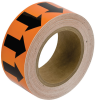 Brady B-946 Black on Orange Directional Flow Arrow Tape - 1 in Width - 30 yd Length - 91414 -- 754476-91414 - Image