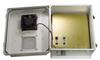14x12x07 Fiberglass Polyester FRP Weatherproof Outdoor IP24 NEMA 3R Enclosure, 802.3af PoE MNT PLT, Solid State Thermostat 48 VDC Fan Gray -- TEF141207-40FSAF -Image