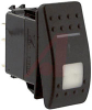 Switch, Rocker, V SERIES, Lighted, SPST, (ON)-NONE-OFF -- 70131619
