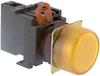 Switch,PILOT LIGHT,ROUND FLUSH, 24V AC/DC, YELLOW -- 70180036