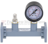 WR-75 Waveguide Pressurizing Section 4.25 Inch Length with Square Cover Flange from 10 GHz to 15 GHz -- FMWSP1006 - Image