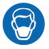 RTK Pictogram Labels (Dust Mask; 3/4