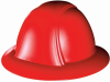 OccuNomix Vulcan Full Brim Hard Hat - Ratchet Type 6 Point Suspension -- VF200 - Image