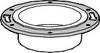 DWV PVC CLOSET FLANGE 4 IN -- IBI455115