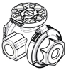 "3/4"" Polypropylene Valve -- F3E23 -- View Larger Image"