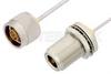 N Male to N Female Bulkhead Cable 36 Inch Length Using PE-SR405AL Coax -- PE34161LF-36 -Image