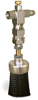 "(Formerly A2261-4X01), Valve Brush, 1 1/2"" Round Nylon, 1/8"" Female NPT Inlet -- A2261-NR4BHW -- View Larger Image"