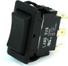 E-Switch Rocker Switch 20A 125VAC DPDT On-Off-On Black RVW46D1100 -- 43305 - Image