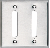 2-Port DB37 Double-Gang Stainless Steel Wallplate -- WP093 - Image