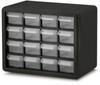 16 drawer cabinet blk frame/blk face -- 55378