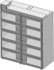 Standard Welded Stainless Steel 10 Door Double Tier Desiccator (a.k.a. Desiccator Cabinet, Dry Box, Dry Storage Cabinet, or Low-Humidity Storage Cabinet) -- CAP19S-SST-10DR-DBL-24Wx10Hx24D-3B