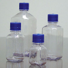 Clear Polycarbonate Square Media Bottles w/ Caps -- 626284-1000