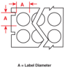 Freezerbondz Thermal Transfer Printer Labels -- THT-144-492-3