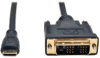 Mini HDMI to DVI Cable, Digital Monitor Adapter Cable (Mini HDMI to DVI-D M/M), 1080P, 10-ft. -- P566-010-MINI -- View Larger Image