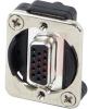 RECEPTACLE, EH SERIES, 15-PIN DSUB FEMALE TO FEMALE -- 70214318